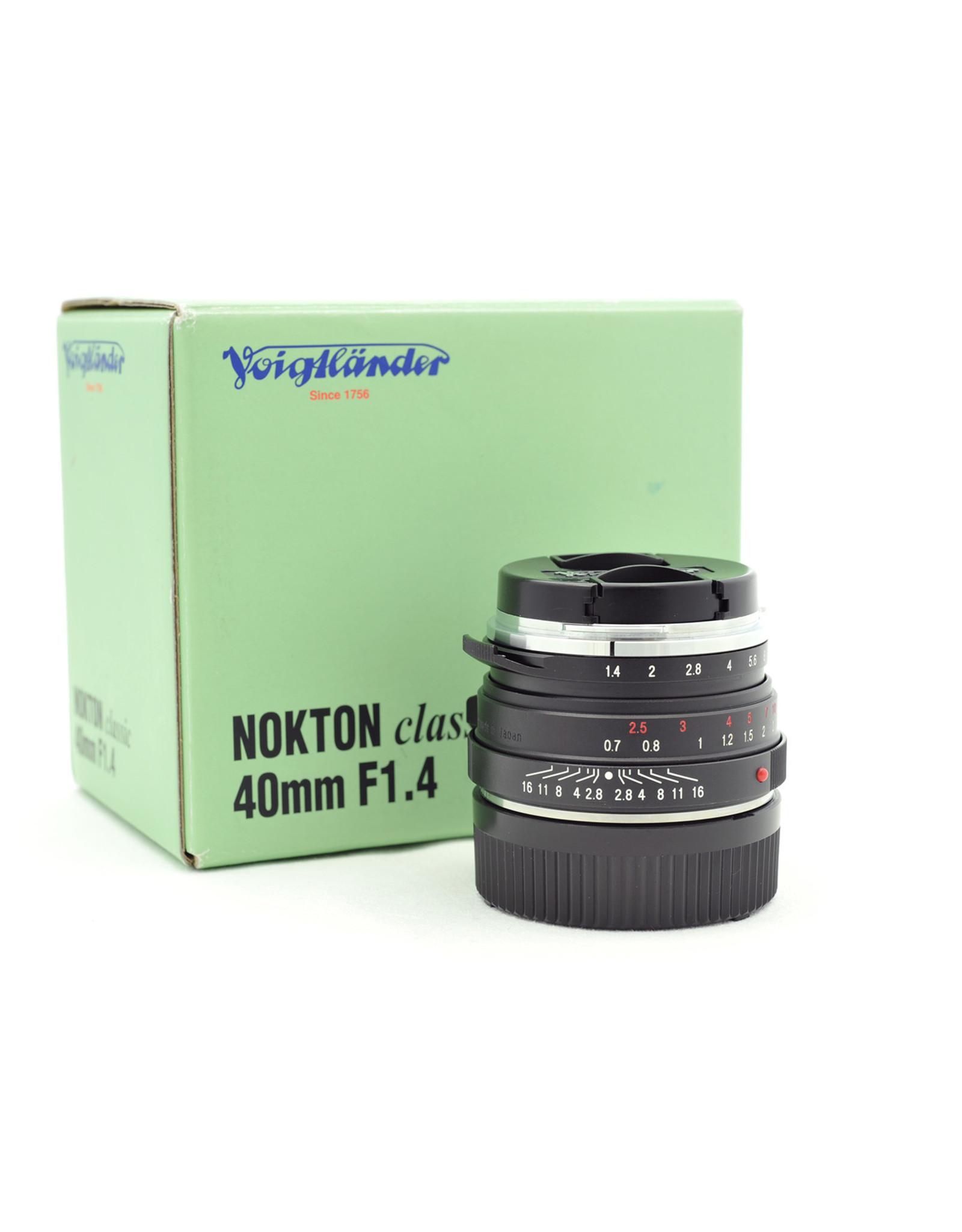Voigtlander Voigtlander 40mm f1.4 Nokton VM Classic S.C   AP2121501