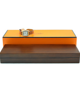Hermes Hermes Cape Cod (CT1.270) Tonneau Quartz Lady Watch in 18kt Rose Gold   ALC111301