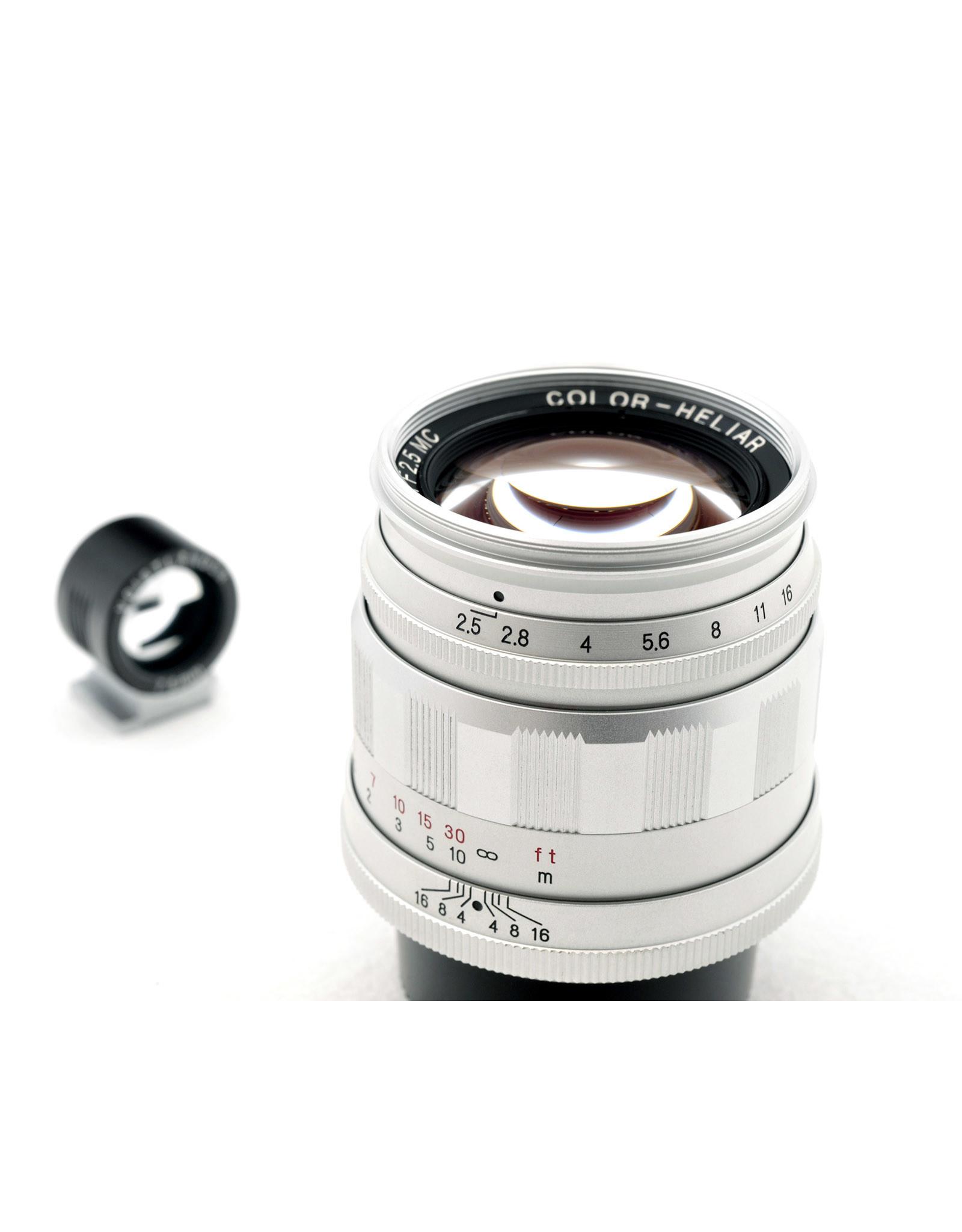 Voigtlander Voigtlander 75mm f2.5 Color-Heliar L39 Silver + View Finder   ALC120706