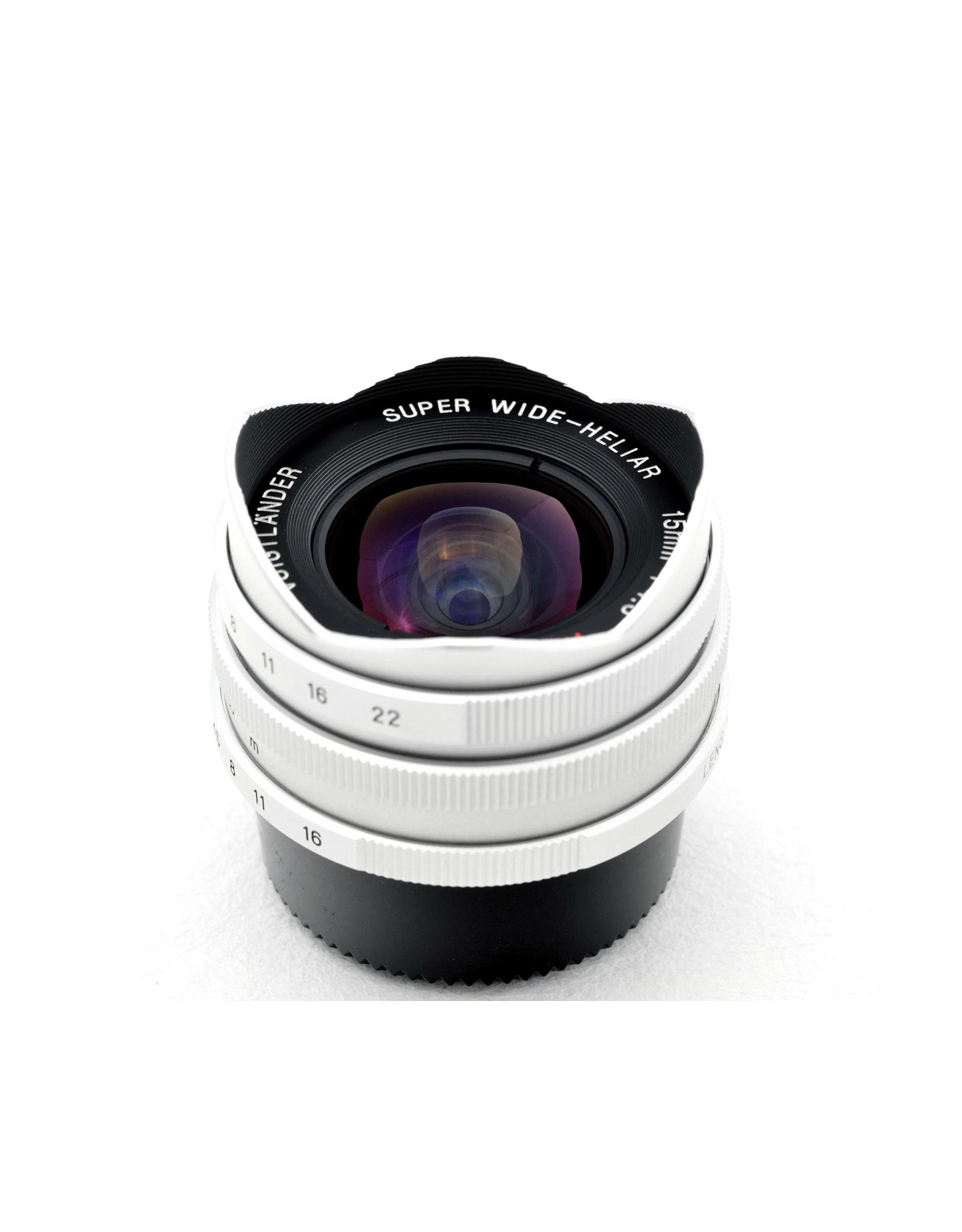 Voigtlander Voigtlander 15mm f4.5  Super Wide-Heliar Silver  + View Finder   ALC120606
