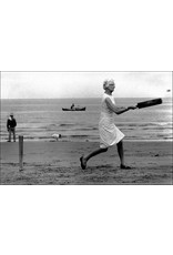 Ian Berry Woman Playing Cricket on the Beach, Whitby, Yorkshire. Ian Berry (13)