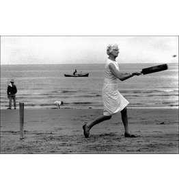 Ian Berry Ian Berry, Woman Playing Cricket on the Beach