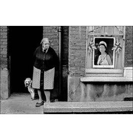 Ian Berry Ian Berry, Elderly Woman with Her Dog Outside Her House