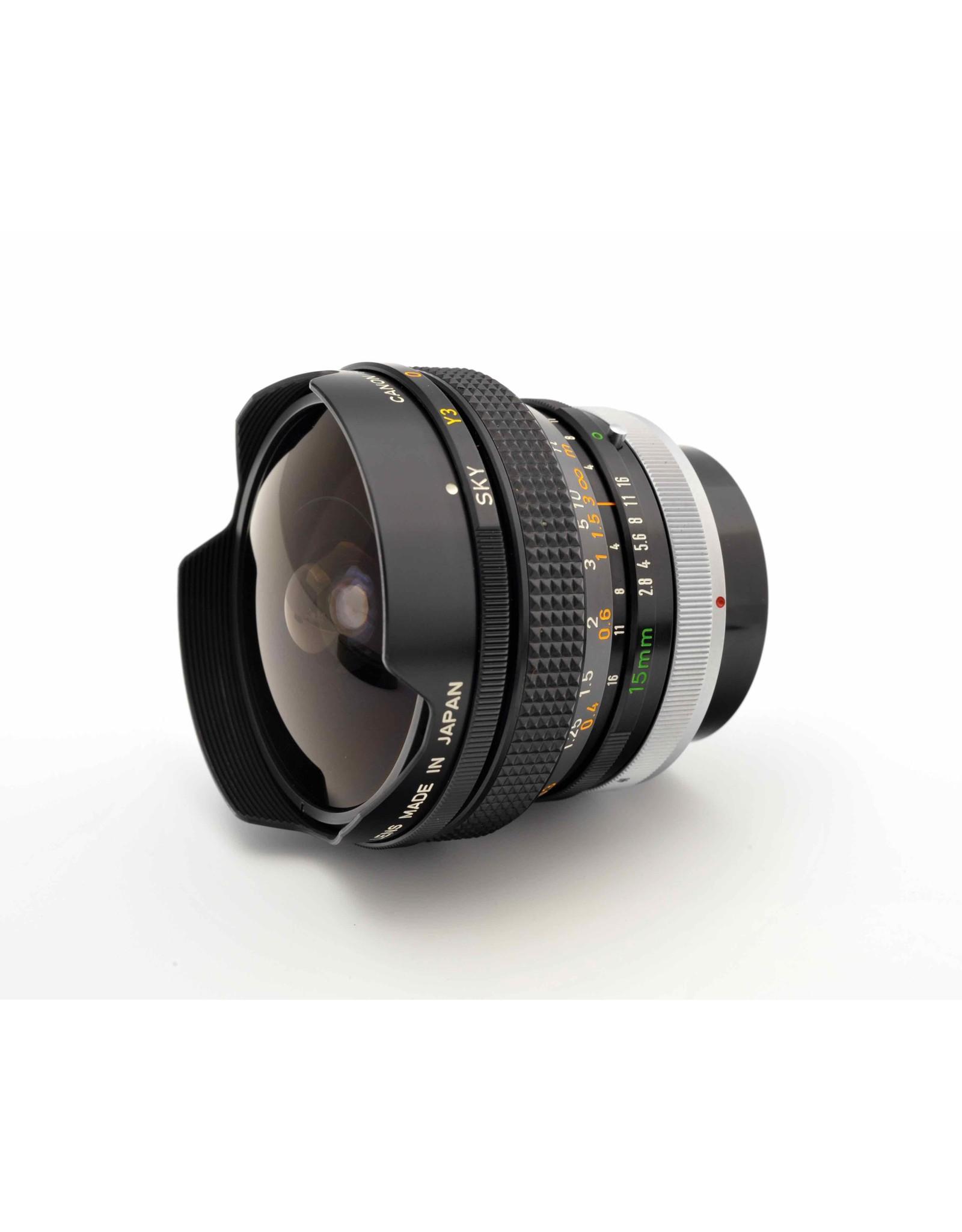 Canon Canon FD15mm f2.8 Fisheye SSC    ALC121202