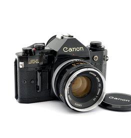 Canon Canon A-1 Black + FD50mm f1.8   AP1100801