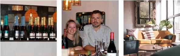 De eigenaren van Wijnbar Oak op de foto