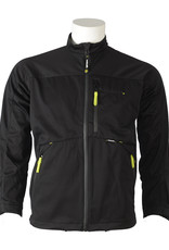 Imhoff Mid Layer jack 3L4WS zwart/lime