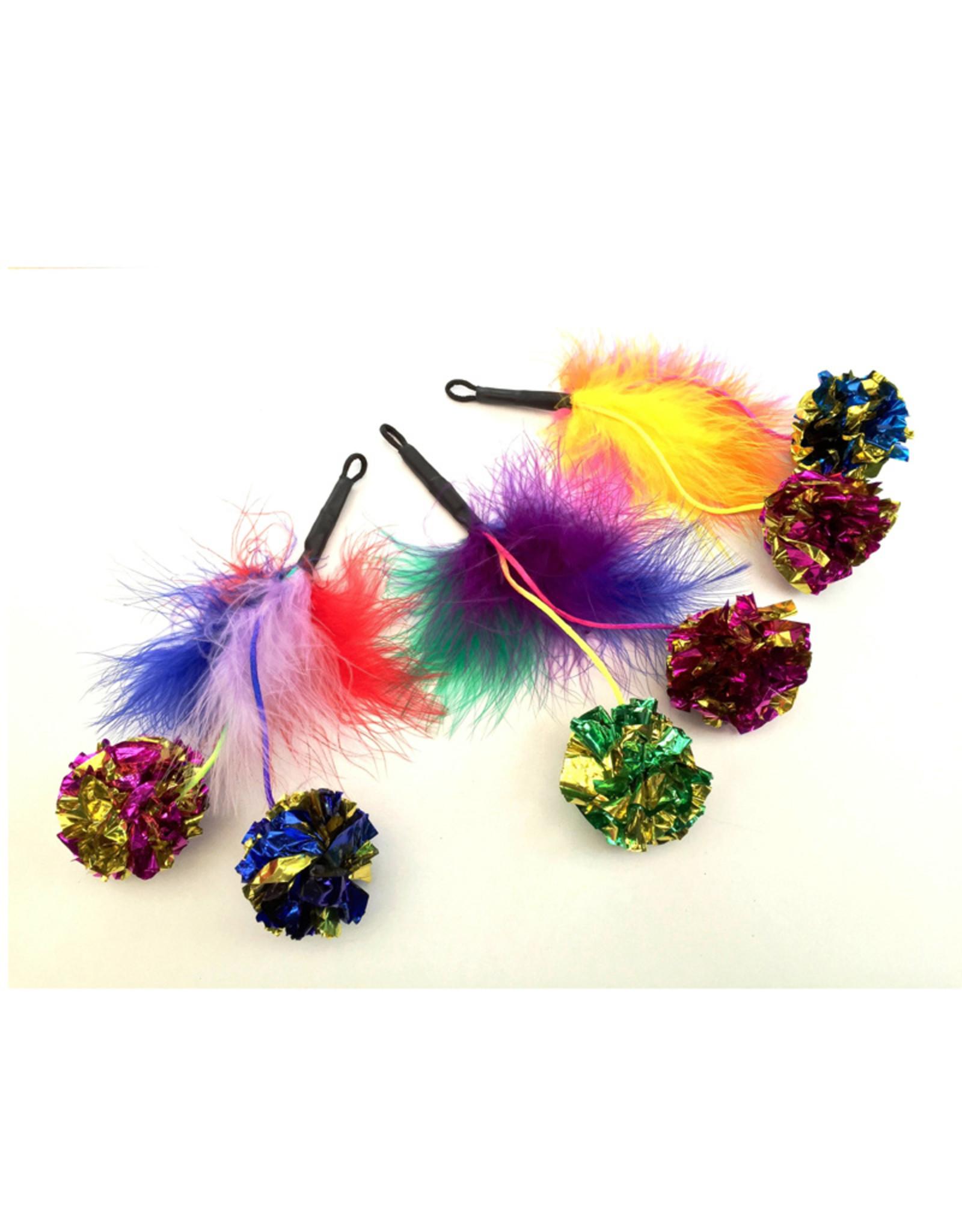 Purrs Feather Crinkle Pomz - knisperveer