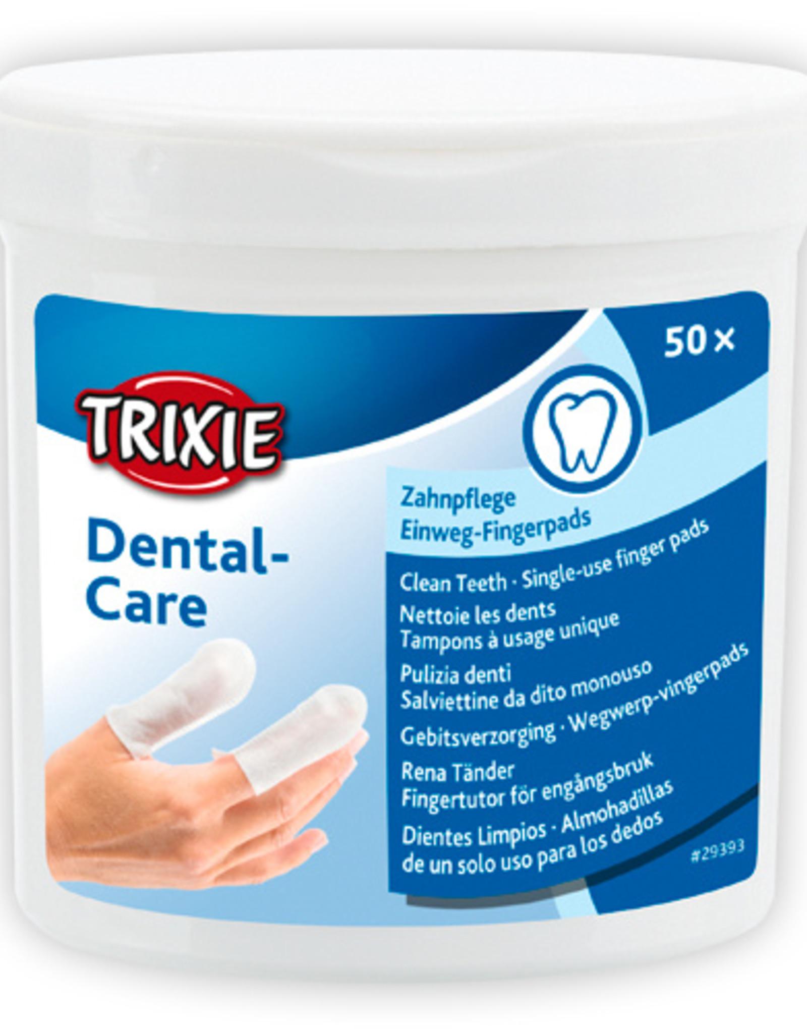 Trixie wegwerp vingerpads voor het gebit