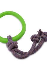 Beco pets Hoop on Rope