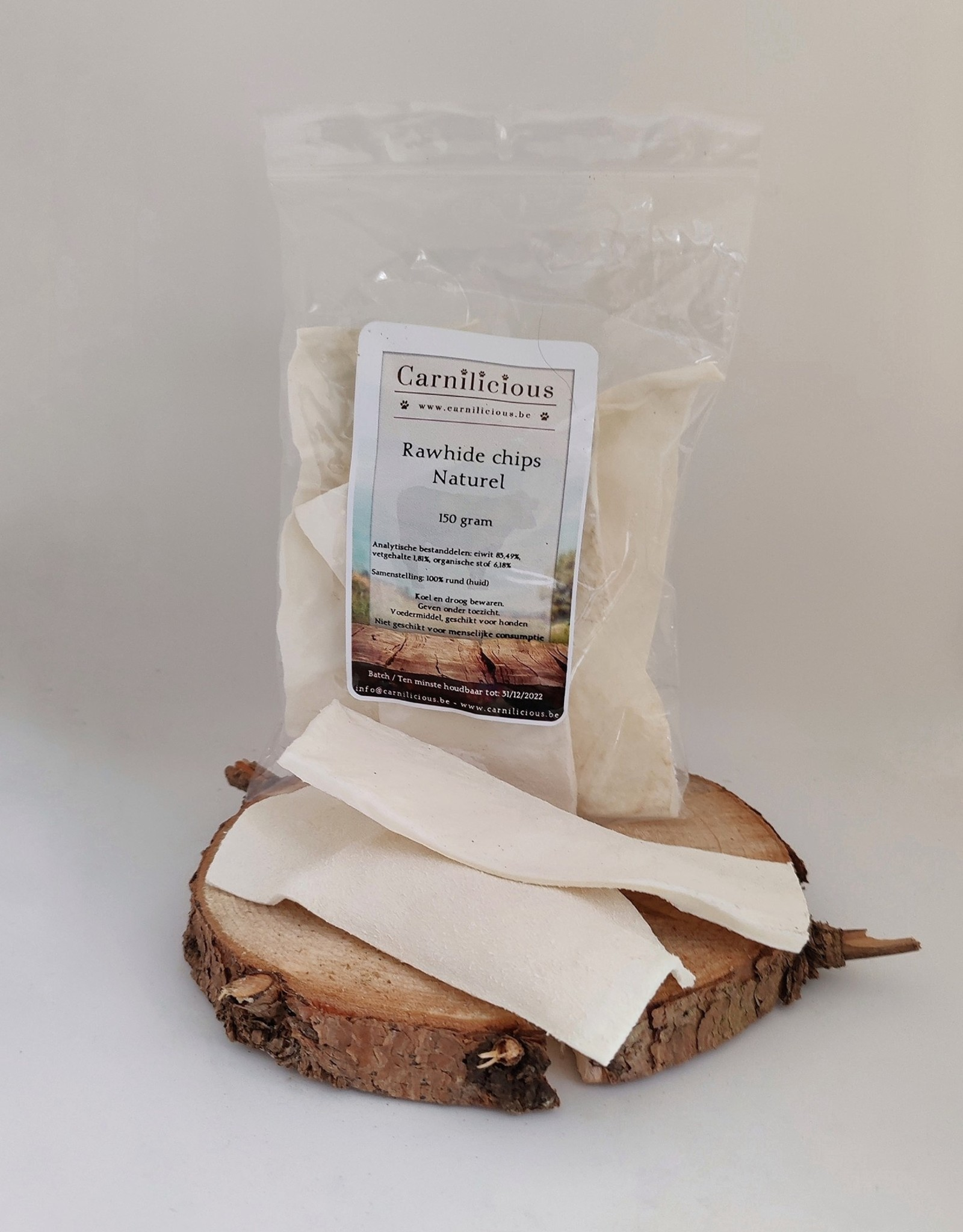 Carnilicious rawhide chips naturel