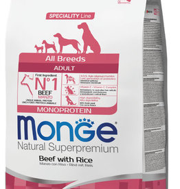 Monge All Breeds Adult Beef and Rice