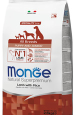 Monge Specialty line All Breeds Puppy & Junior Lamb and Rice