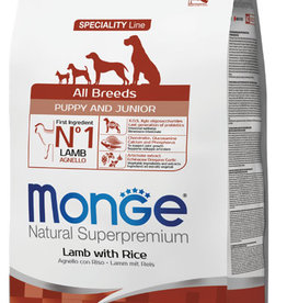 Monge All Breeds Puppy & Junior Lamb and Rice