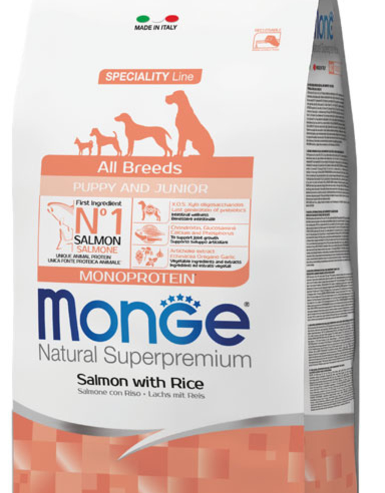 Monge Specialty line All Breeds Puppy & Junior Salmon and Rice