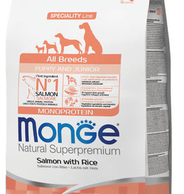 Monge All Breeds Puppy & Junior Salmon and Rice
