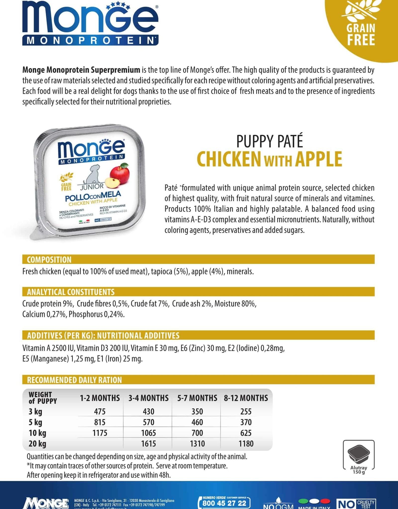 Monge Wet Puppy Chicken With Apple