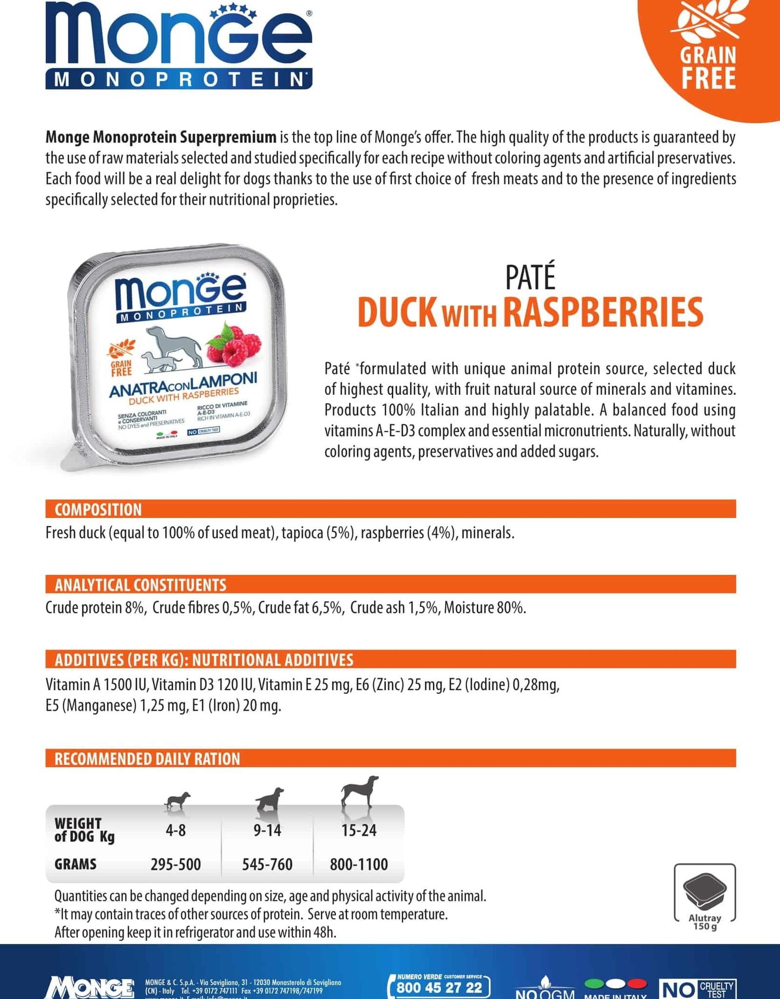 Monge Wet Duck With Raspberries