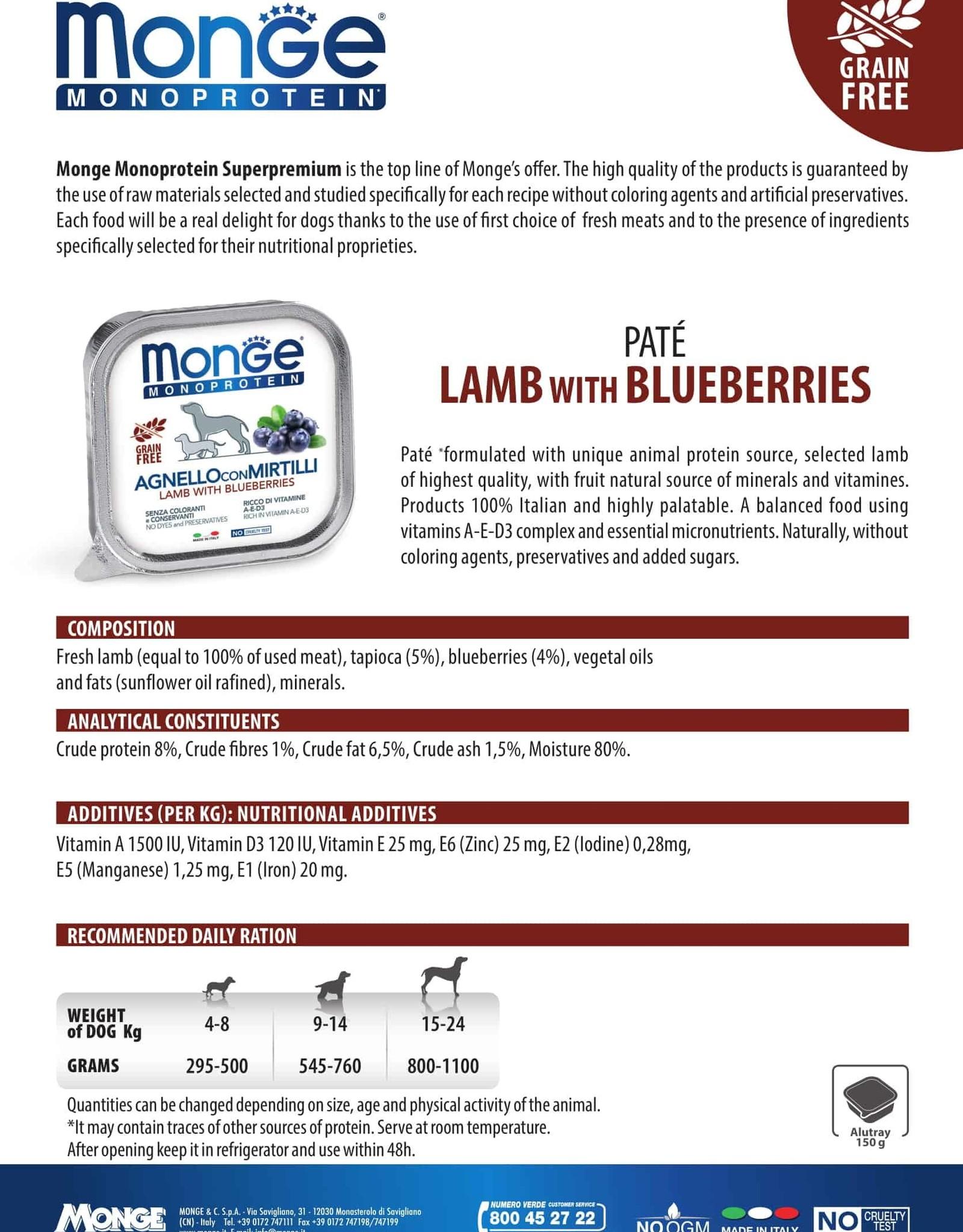 Monge Wet Lamb With Blueberries
