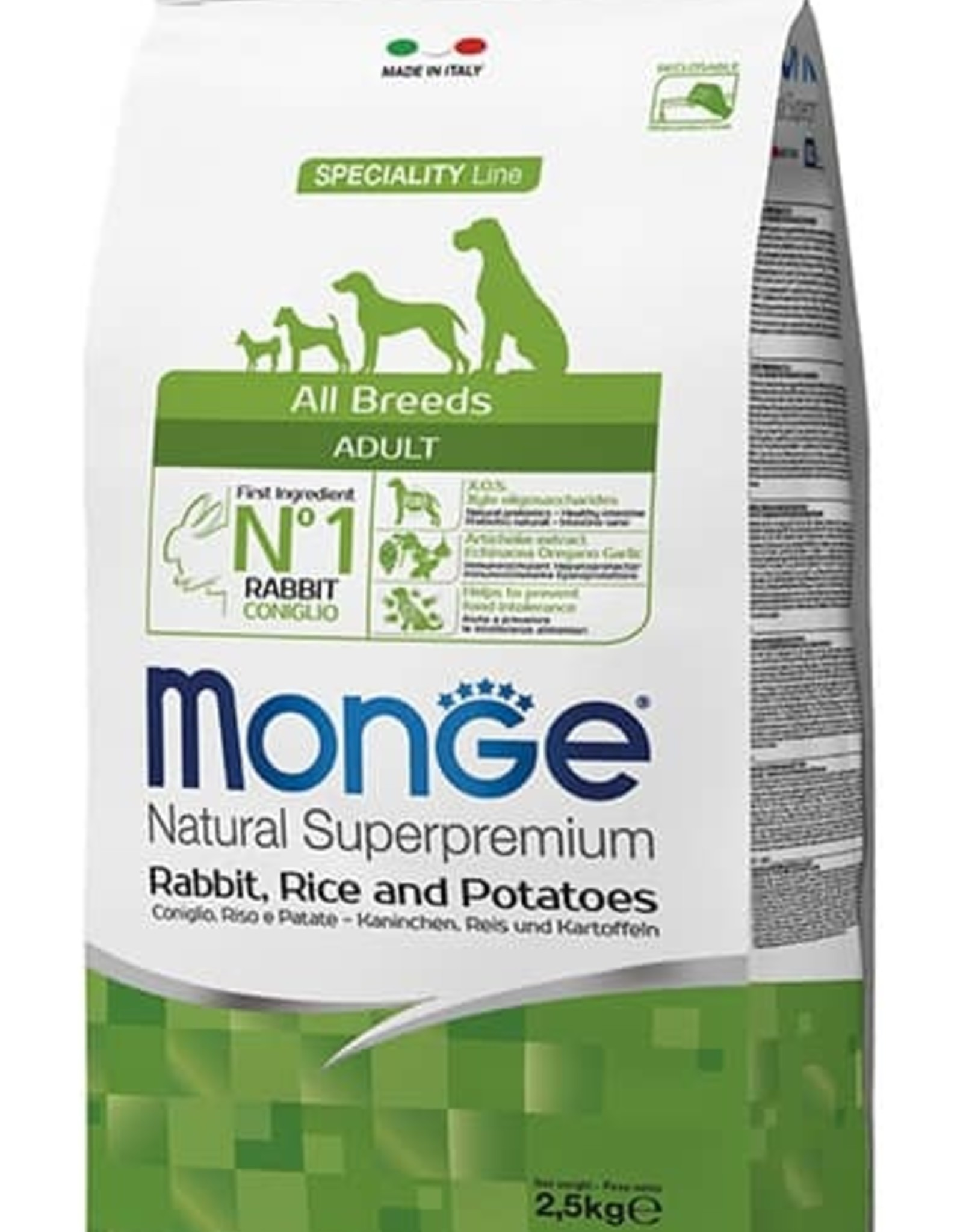 Monge Specialty line All Breeds Adult Rabbit, rice & potatoes