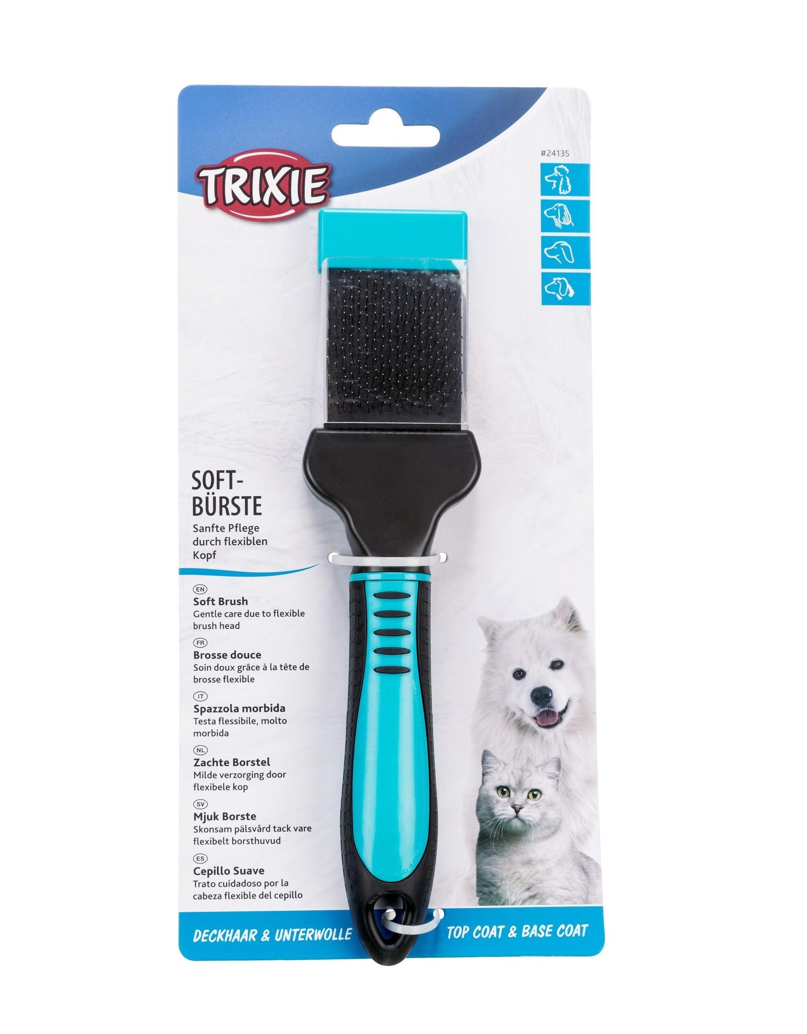 Trixie Slickerborstel met kunststof/metalen pinnen