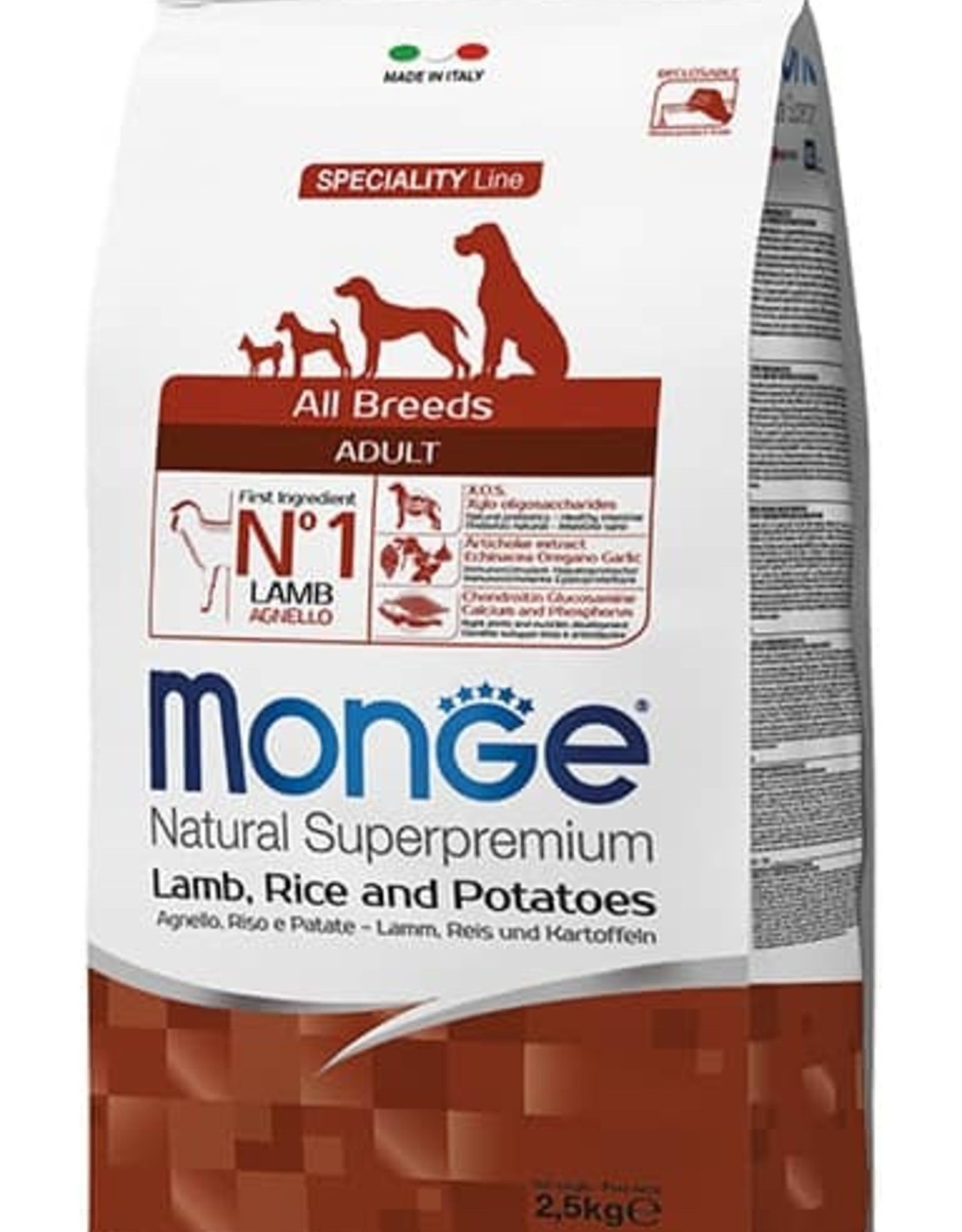 Monge Specialty line All Breeds Adult Lamb, Rice & Potatoes
