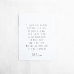 Mini poster • Voor mama ze serveert liefde