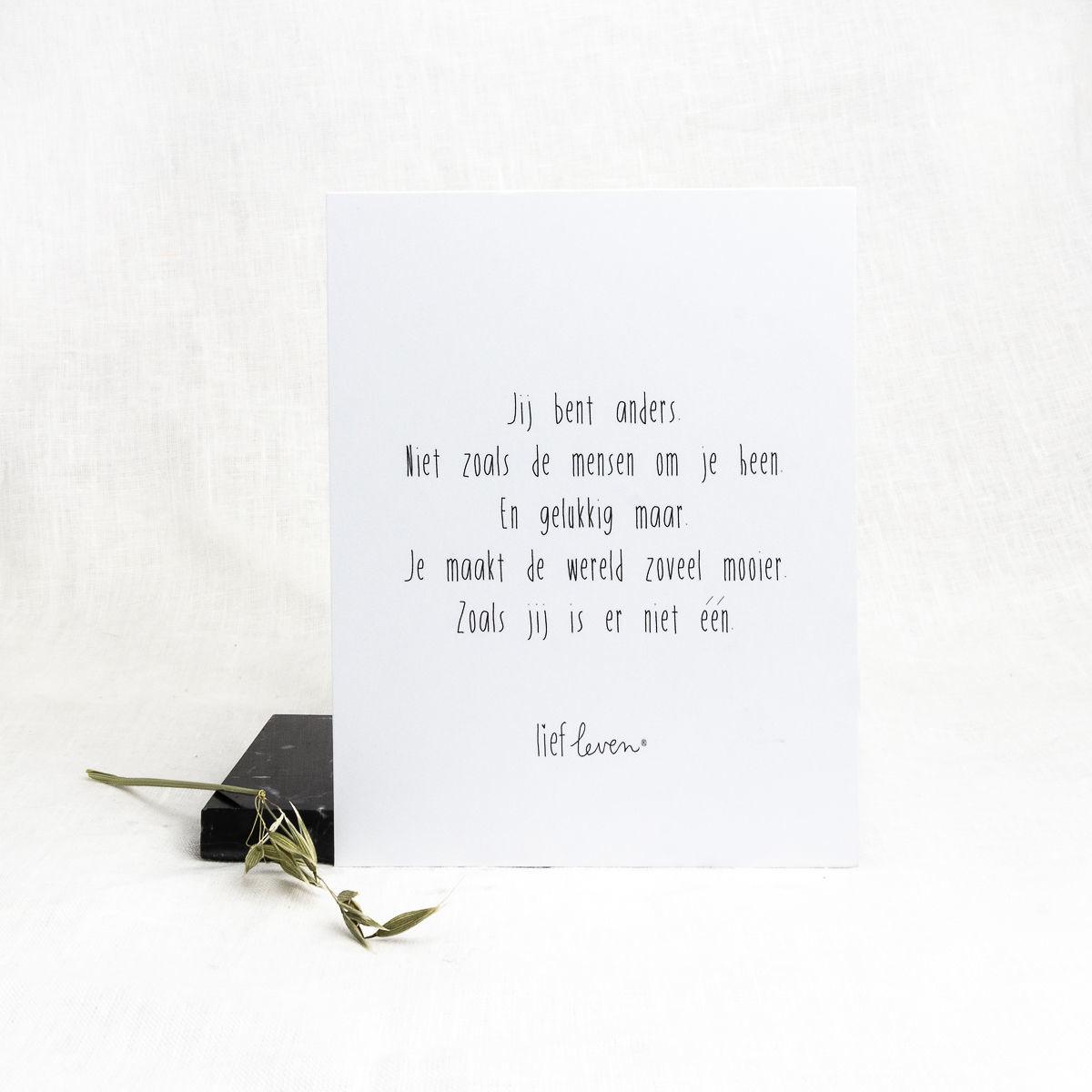 Mini Poster • Jij bent anders