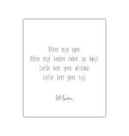 Mini Poster • Alleen mijn ogen