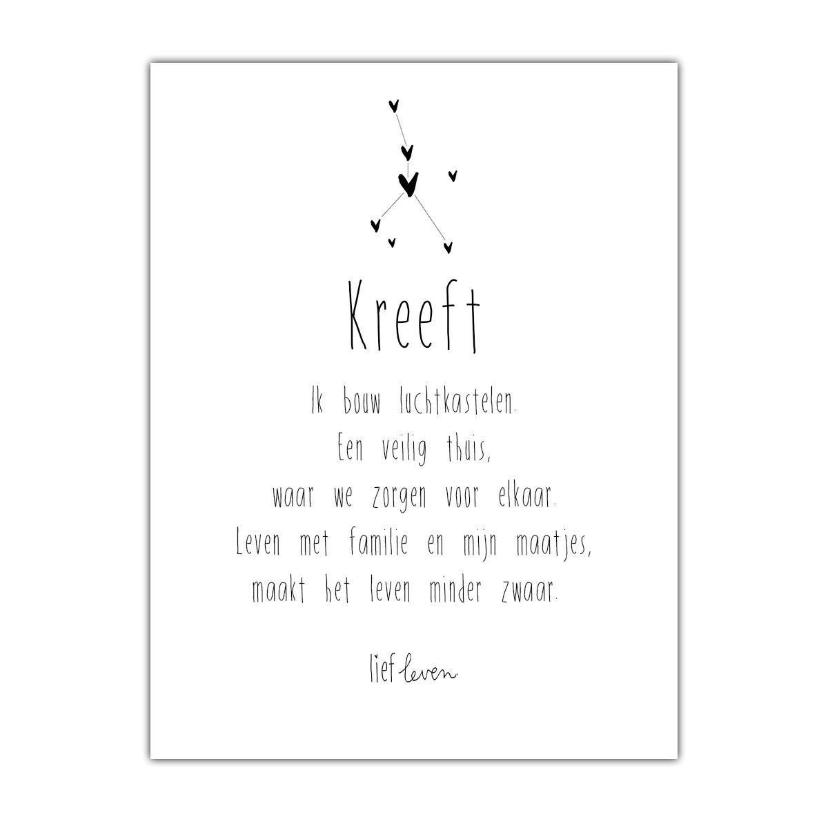 Mini Poster • Sterrenbeeld Kreeft