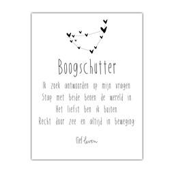 Mini Poster • sterrenbeeld Boogschutter