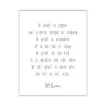 Mini Poster • Ik geloof in dromen