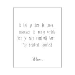 Mini Poster • Ik heb je door de jaren (pap)