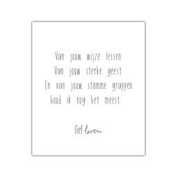 Mini poster • Papa • Van jouw wijze lessen