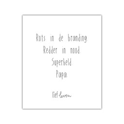 Mini poster • Papa redder in nood