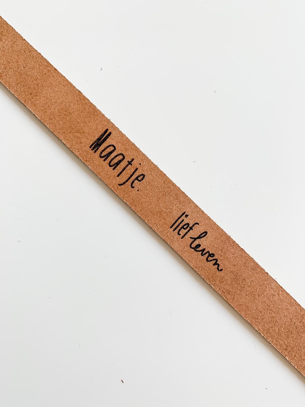 Leren armband • maatje of superheld