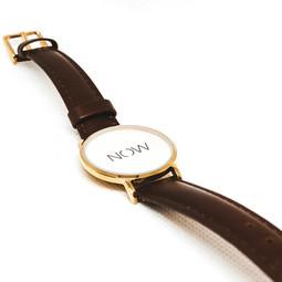 NOW horloge • Cognac bruin