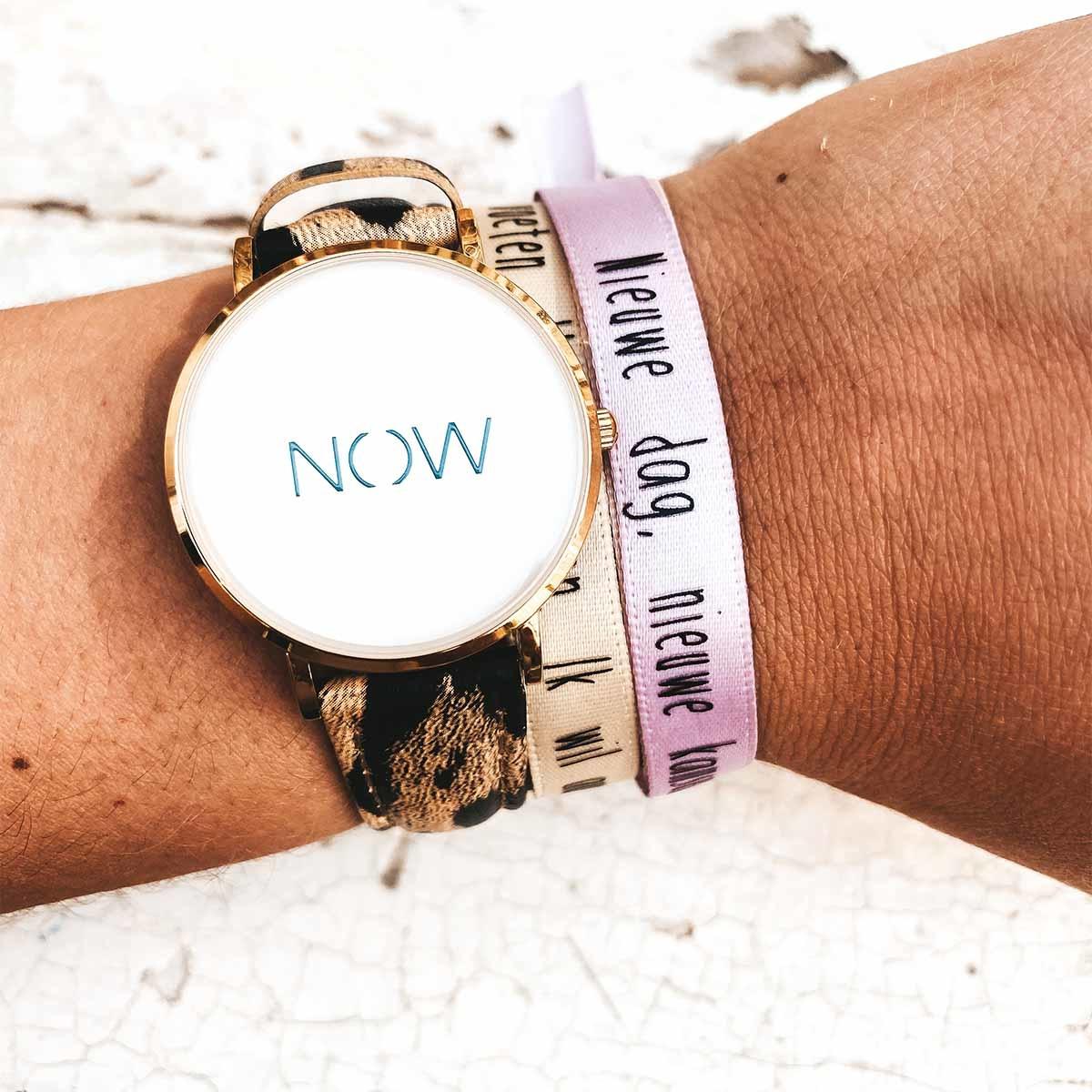 NOW horloge • Wild leopard