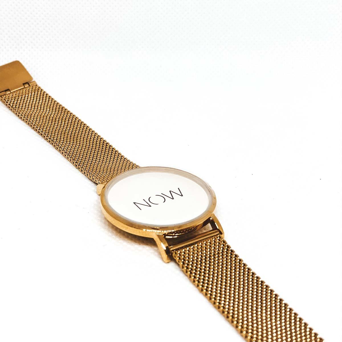 NOW horloge • Mesh Gold