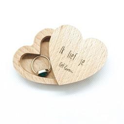 Houten doosje met deksel • Ik lief je