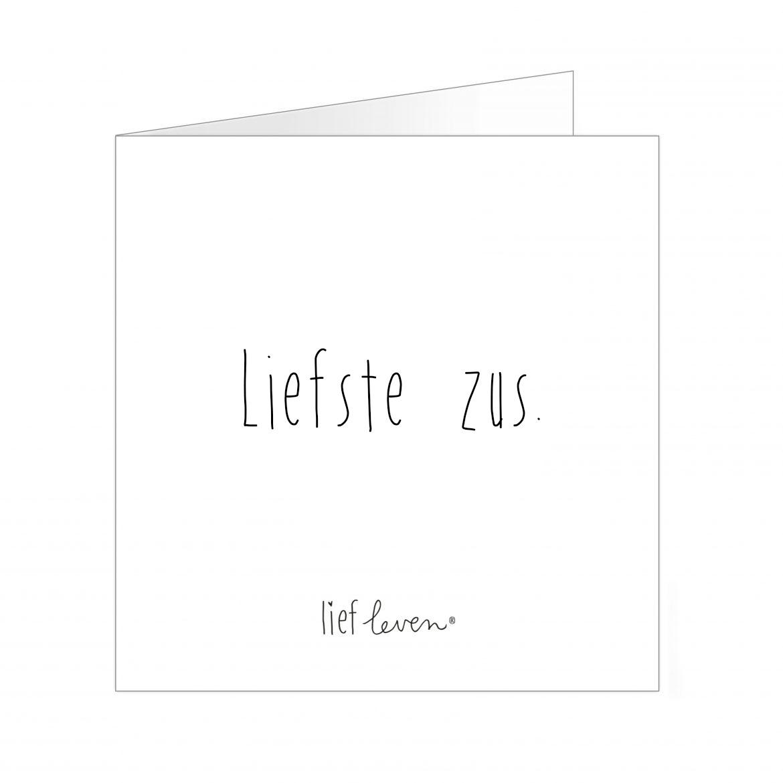 Wenskaart • Liefste zus