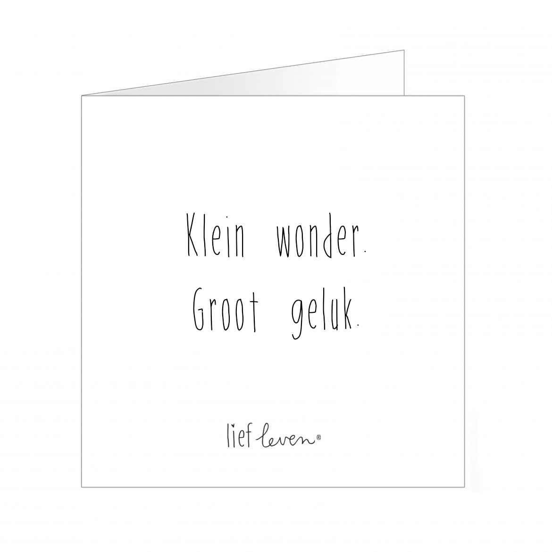 Wenskaart • Klein wonder. Groot geluk.