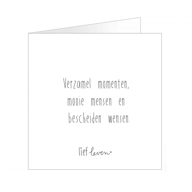 Wenskaart • Verzamel momenten, mooie mensen & bescheiden wensen.