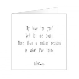 Wenskaart • My love for you?