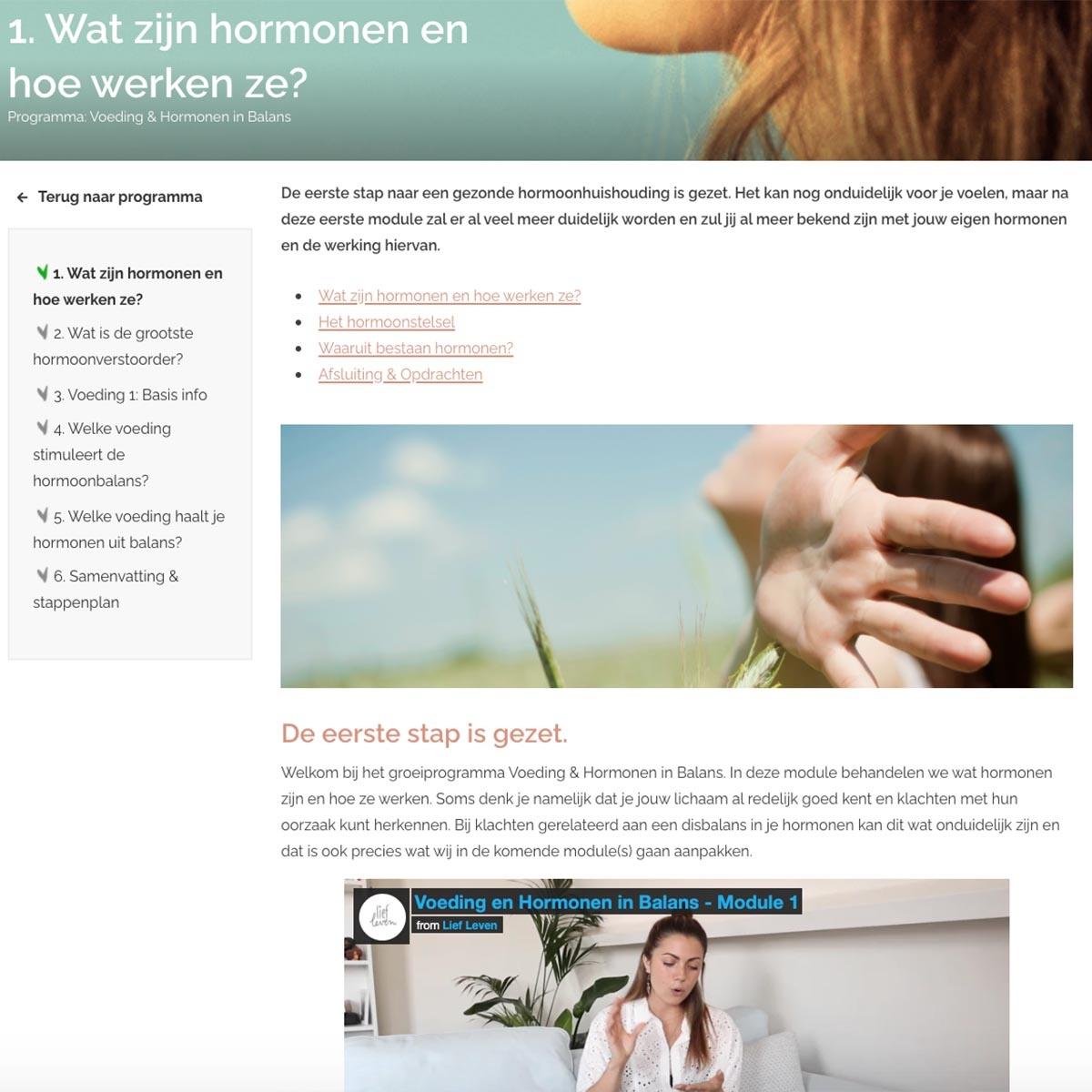 Groeiprogramma • Voeding & Hormonen in Balans