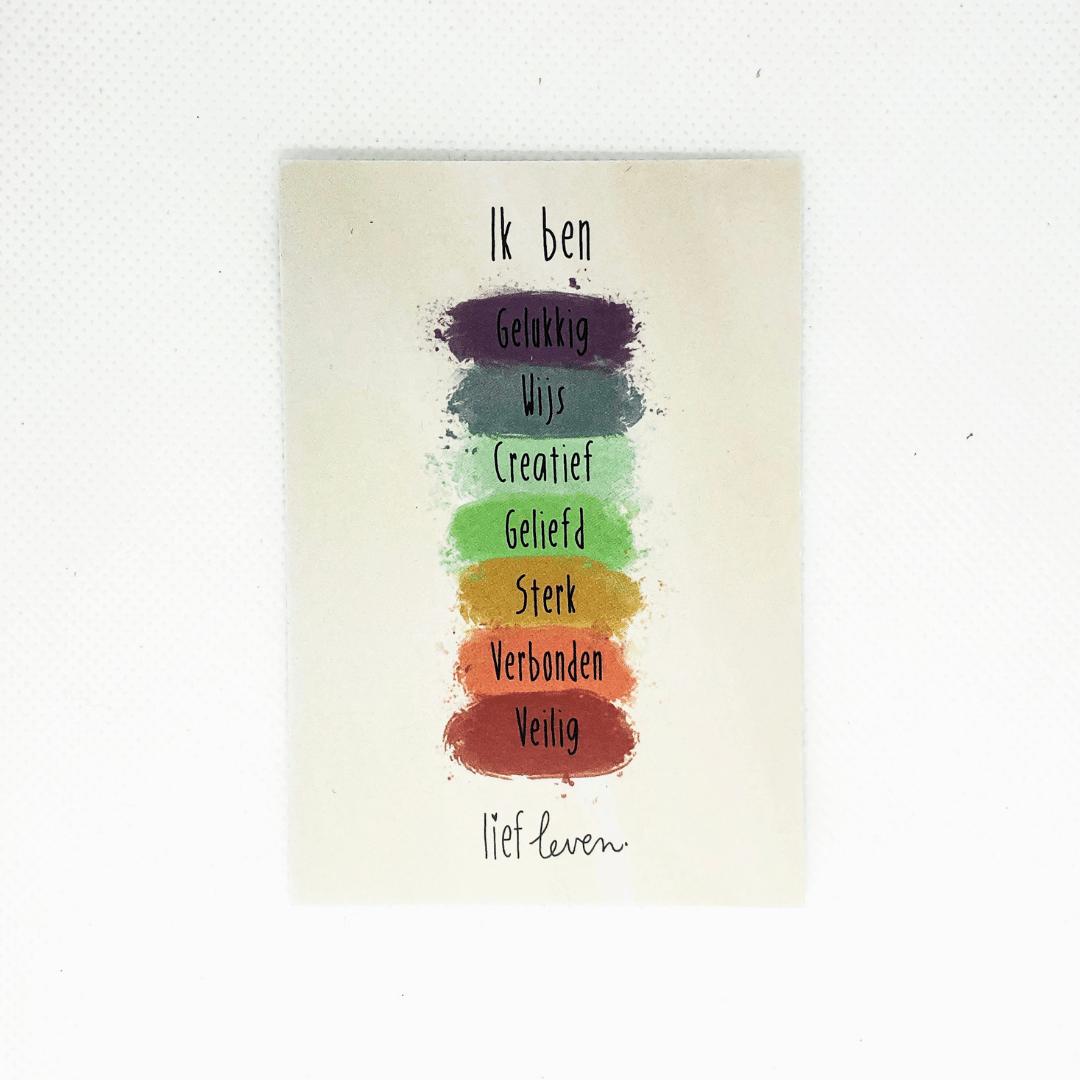 Minikaartjes set 10 stuks • Ik ben gelukkig