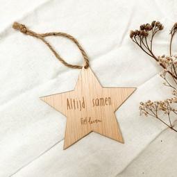 Houten ster • Altijd samen.