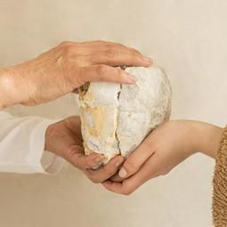 Bergkristal Geode paar 10 -12 cm • beschermend