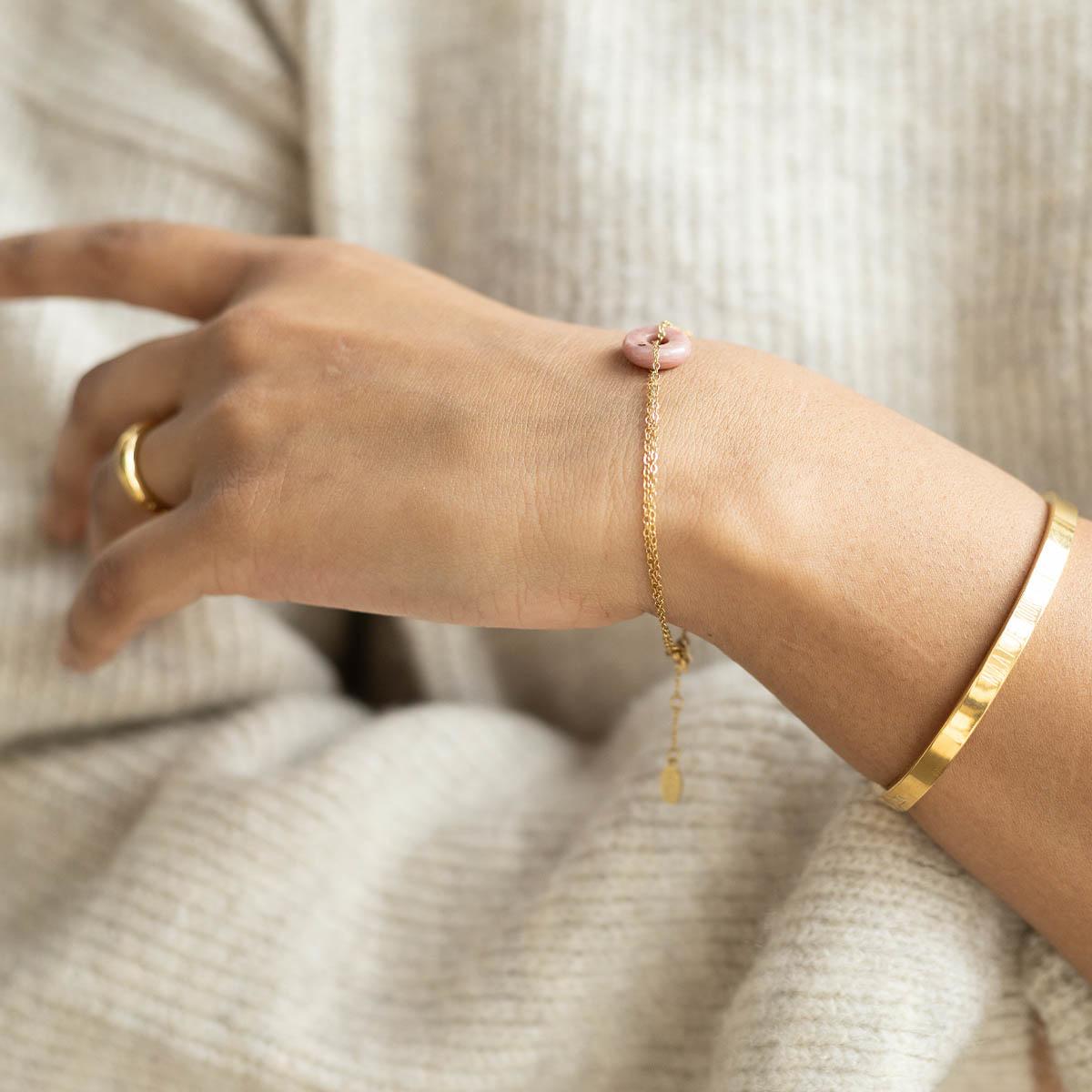 Armband steen roze • zelfliefde