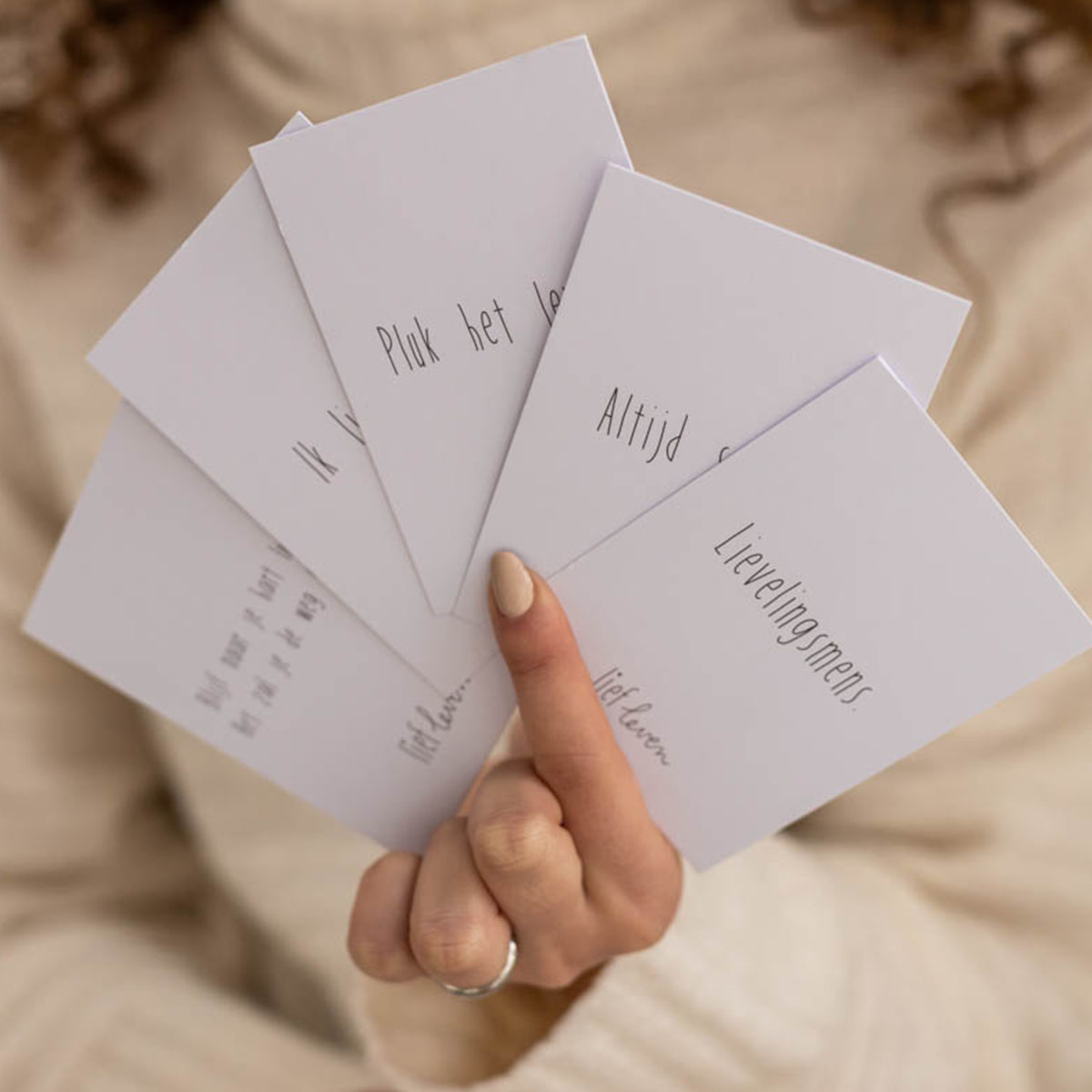 setje mini kaartjes • 10 stuks